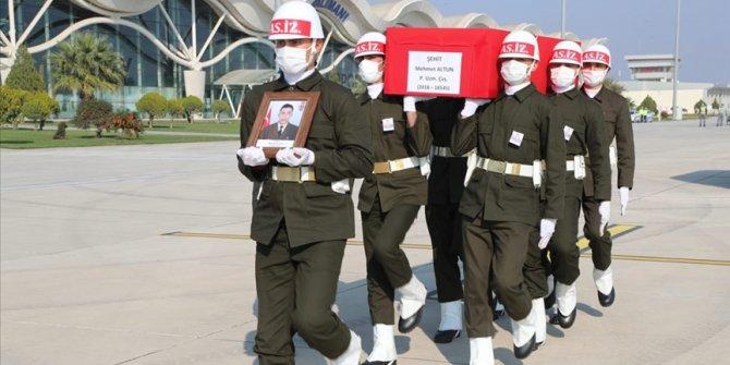 Şehit Uzman Çavuş Mehmet Altun'un cenazesi memleketine uğurlandı