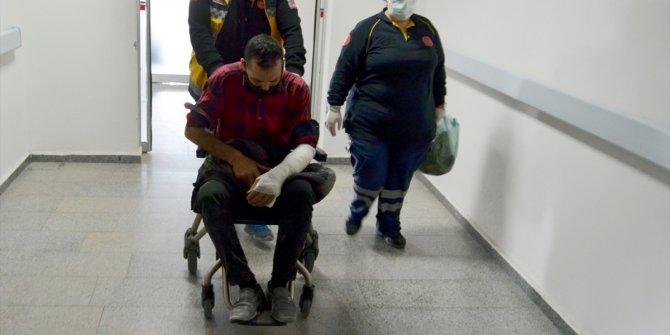 Köpeklerin saldırısına uğrayan kağıt toplayıcı adam yaralandı
