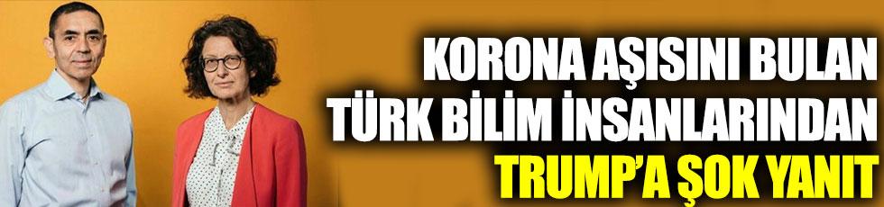 Korona aşısını bulan Türk bilim insanlarındanTrump'aşok yanıt