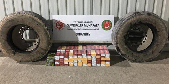 Kilis'te 1400 paket sigara ele geçirildi