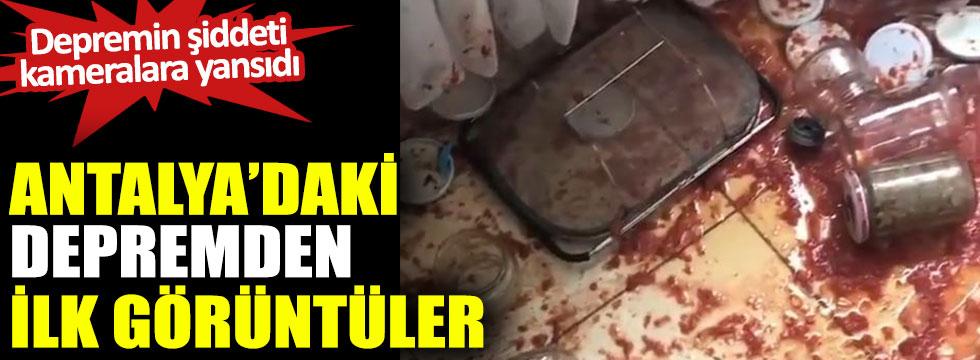 Antalya'daki depremden ilk görüntüler geldi