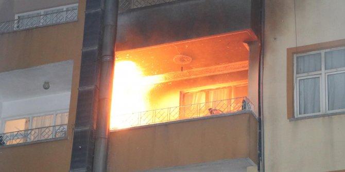 Şanlıurfa'da mutfakta çıkan yangın panik yarattı