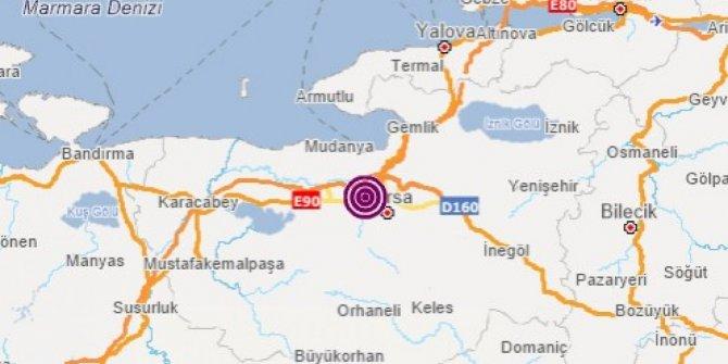 Bursa'da deprem