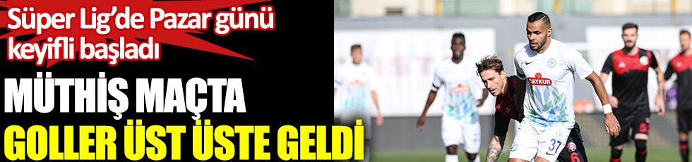 Fatih Karagümrük - Çaykur Rizespor maçında heyecan fırtınası. Süper Lig'de Pazar günü keyifli başladı