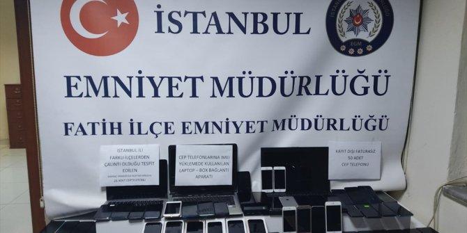 İstanbul'da 86 çalıntı ve kaçak cep telefonu ele geçirildi