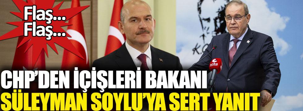 CHP'li Faik Öztrak'tan İçişleri Bakanı Süleyman Soylu'ya sert yanıt!
