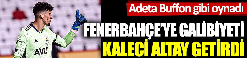 Fenerbahçe'ye Denizlispor'a karşı galibiyeti kaleci Altay getirdi