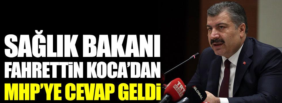 Sağlık Bakanı Fahrettin Koca'dan MHP'li Tamer Karaosmanoğlu''na cevap geldi