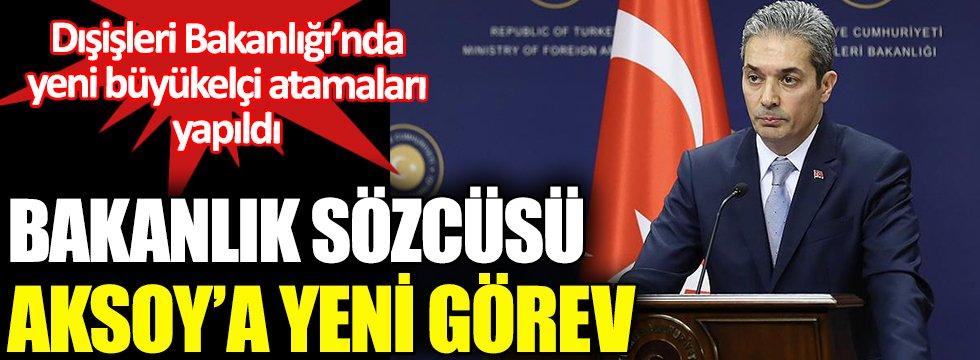 Bakanlık Sözcüsü Hami Aksoy'a yeni görev. Bakan Çavuşoğlu büyükelçileri arayarak yeni görev yerlerini tebliğ etti