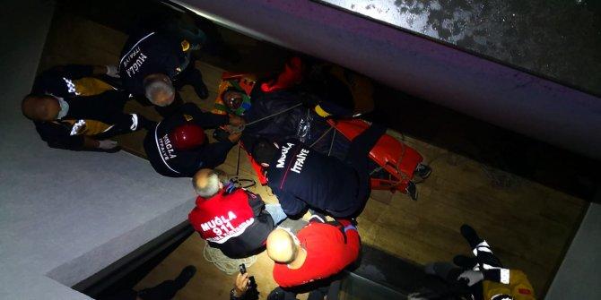 Bodrum'da feci kaza! Kurye 5 metre yükseklikten uçtu