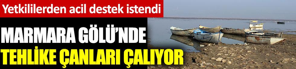 Marmara Gölü'nde tehlike çanları çalıyor. Yetkililerden acil destek istendi