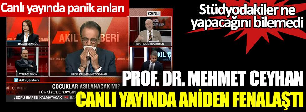 Prof. Dr. Mehmet Ceyhan canlı yayında aniden fenalaştı. Stüdyodakiler ne yapacağını şaşırdı. Canlı yayında panik anları