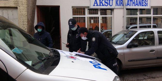 Polis arka kapıdan girdi cezayı kesti