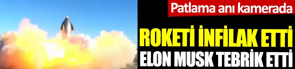 Roketi infilak etti Elon Musk tebrik etti. Patlama anı kamerada