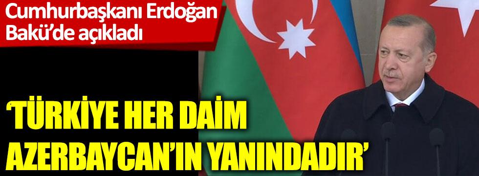 Cumhurbaşkanı Erdoğan Bakü'de zafer kutlamalarında konuştu