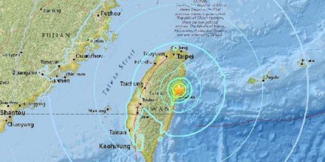 Tayvan'da 6.7 büyüklüğünde deprem