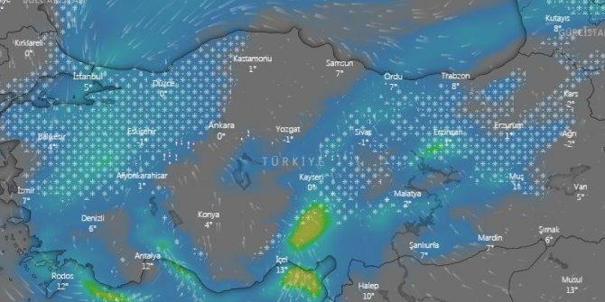 Meteoroloji'nin sesi olan Meteoroloji Radyosu bas bas bağırıyor. İstanbul'u kuşatan kar bu gece saat kaçta başlıyor