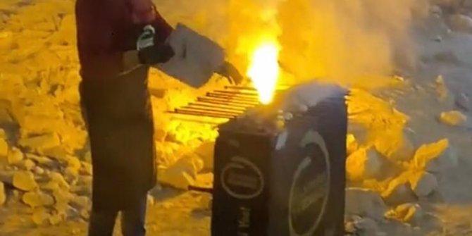 Şanlıurfa'da kilisenin içinde mangal yaktılar