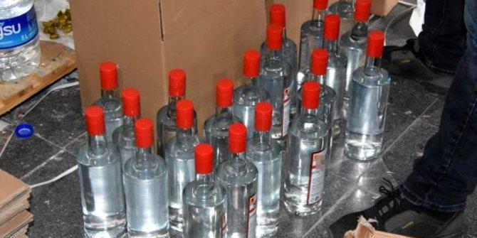 Sahte rakı yapımında kullanılan binlerce litre etil alkol ele geçirildi