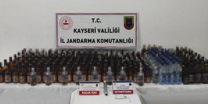 Kayseri'de kaçak içki operasyonu