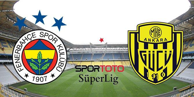 Süper Lig'de liderlik yarışı kızıştı. Fenerbahçe- Ankaragücü maçında 4 gol atıldı
