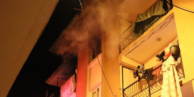Bornova'da elektrik kontağı yangın çıkarttı