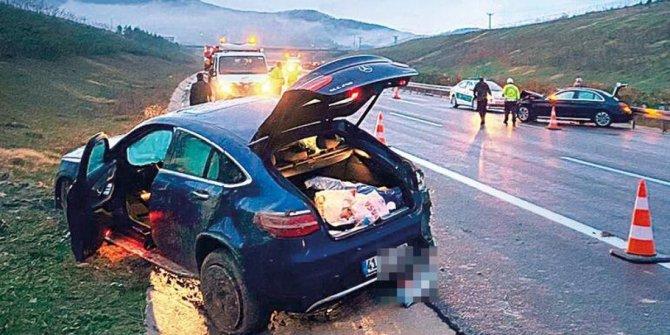 Ünlü oyuncu Tolgahan Sayışman'ın aracı takla attı