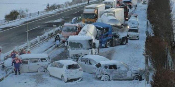 Japonya'da zincirleme kaza: 8 kişi ağır yaralı