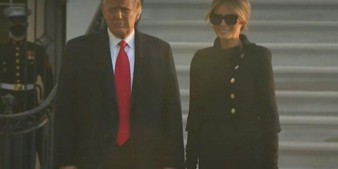 Trump Beyaz Saray'a veda etti