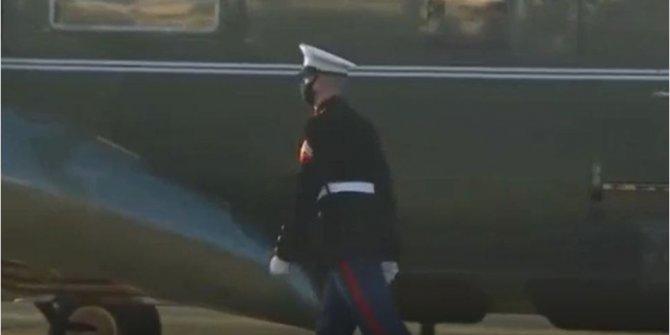 Trump'tan daha fazla bu asker izlendi. Ani dönüşleri olay oldu