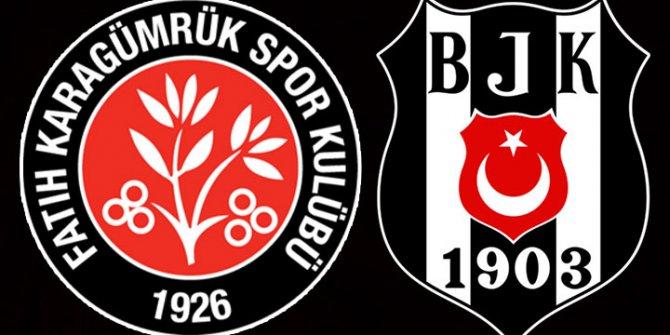 Fatih Karagümrük- Beşiktaş canlı anlatım