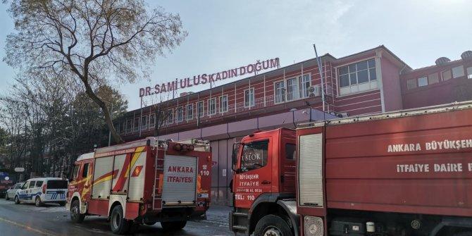 Çocuk Hastanesi'nde korkutan yangın