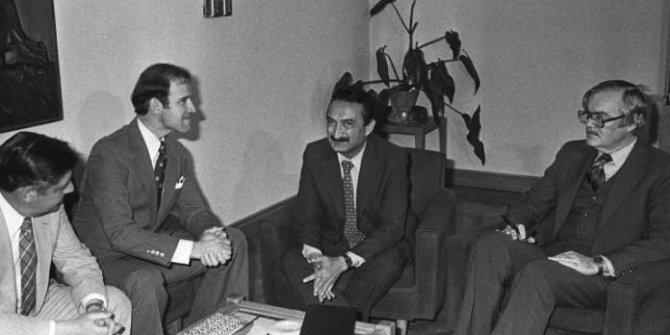 ABD'nin yeni Başkanı Joe Biden ile Bülent Ecevit'in 40 yıl önce çekilen fotoğrafı ortaya çıktı. Randevu alıp Ecevit'in ayağına Ankara'ya gelmişti