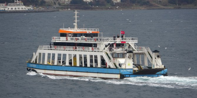 Lodos nedeniyle feribot seferleri iptal