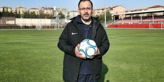 Bakan Kasapoğlu'ndan seyircisiz oynanan maçlarla ilgili flaş açıklama!