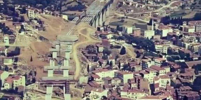 İstanbul'un talan edilmeden önceki hali. Şehitler Köprüsü yapılırken çekilen fotoğraf
