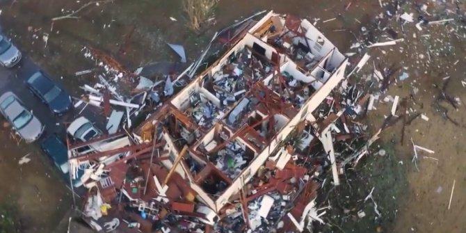 Amerika'da büyük hasar görüntülendi