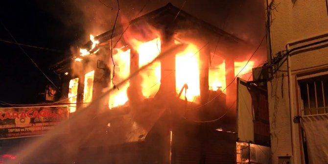Afyonkarahisar'da işyerleri saatlerce alev alev yandı