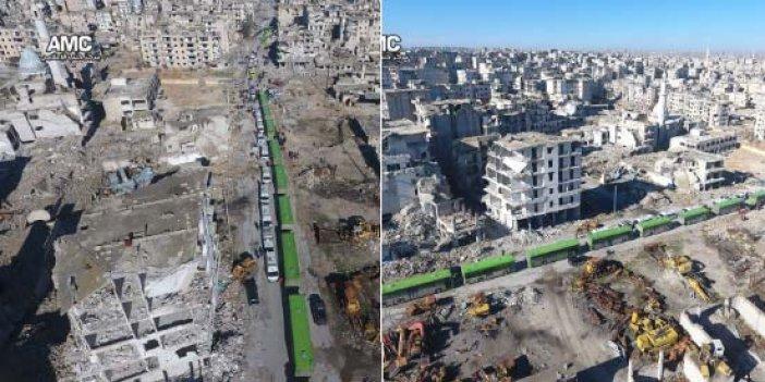 Halep'te tahliye yeniden başladı