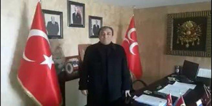 AKP'lilerin 'evet' kampanyasına MHP İlçe Başkanı'ndan destek