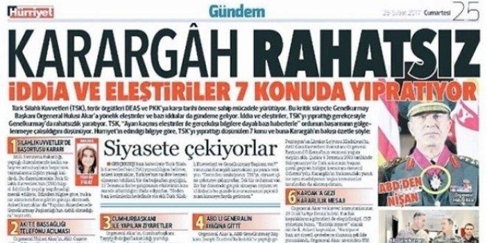 'Karargâh rahatsız' manşetine soruşturma!