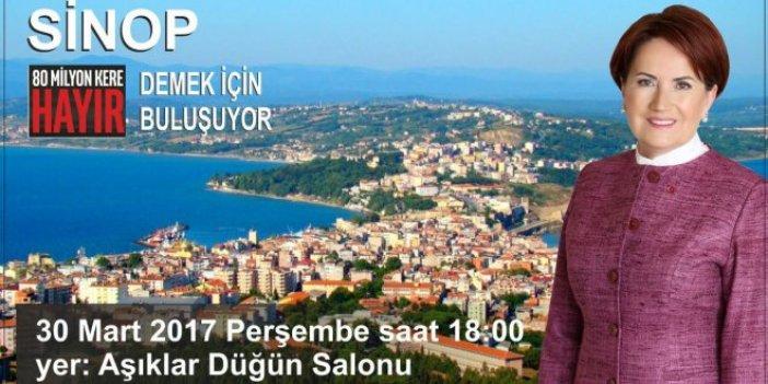 Akşener, Sinop'tan 'hayır' diyecek