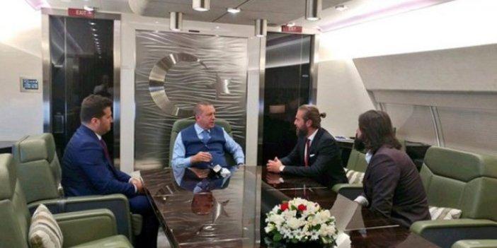 Diriliş'in oyuncuları Erdoğan'ın uçağında