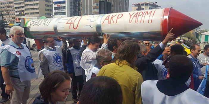 Bursa'da MTV zammına füzeli protesto