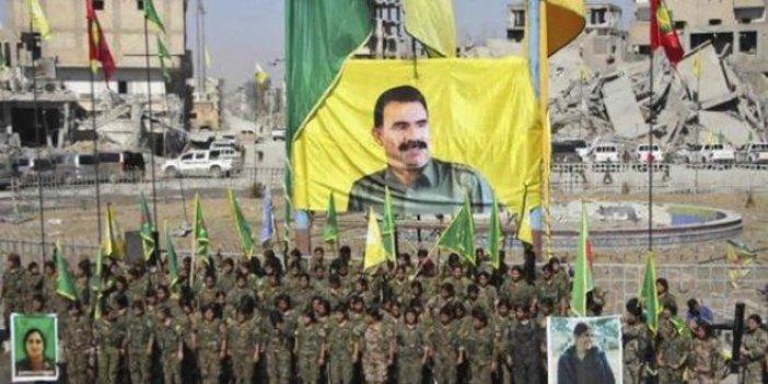 PKK'lılar Rakka'da Apo posteri açtı