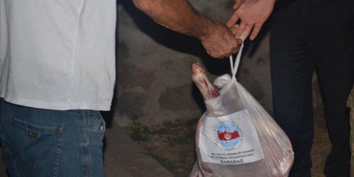 Milliyetçi Hekimler Derneği Karabağ'da kurban eti dağıttı