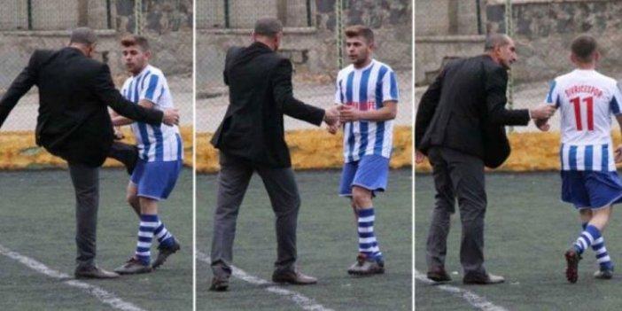 Başkan'dan futbolcuya tekme
