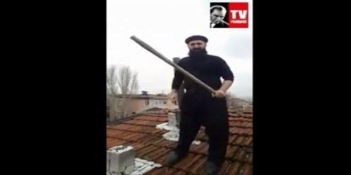 """Çatıda noel babayı bekleyen vatandaş: """"Yakalarsam iman et diyeceğim"""""""