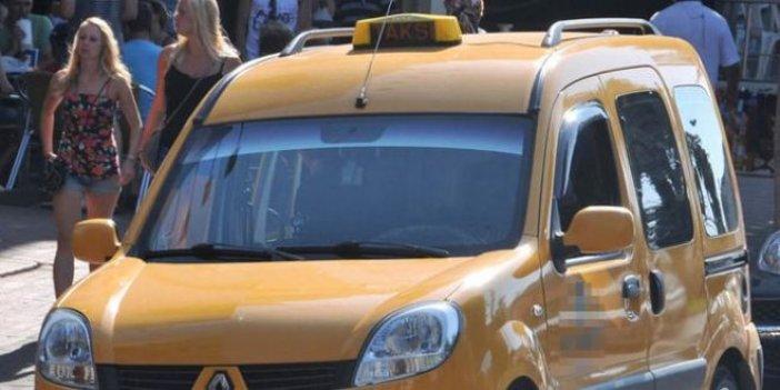 Antalya'da taksi plakası vurgunu