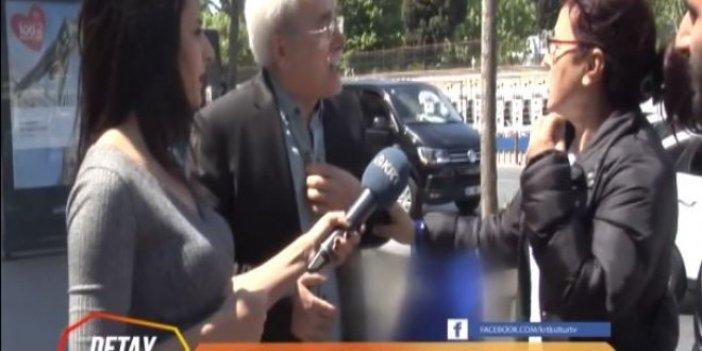 Akşener'i eleştiren vatandaşa kadınlardan ilginç tepki